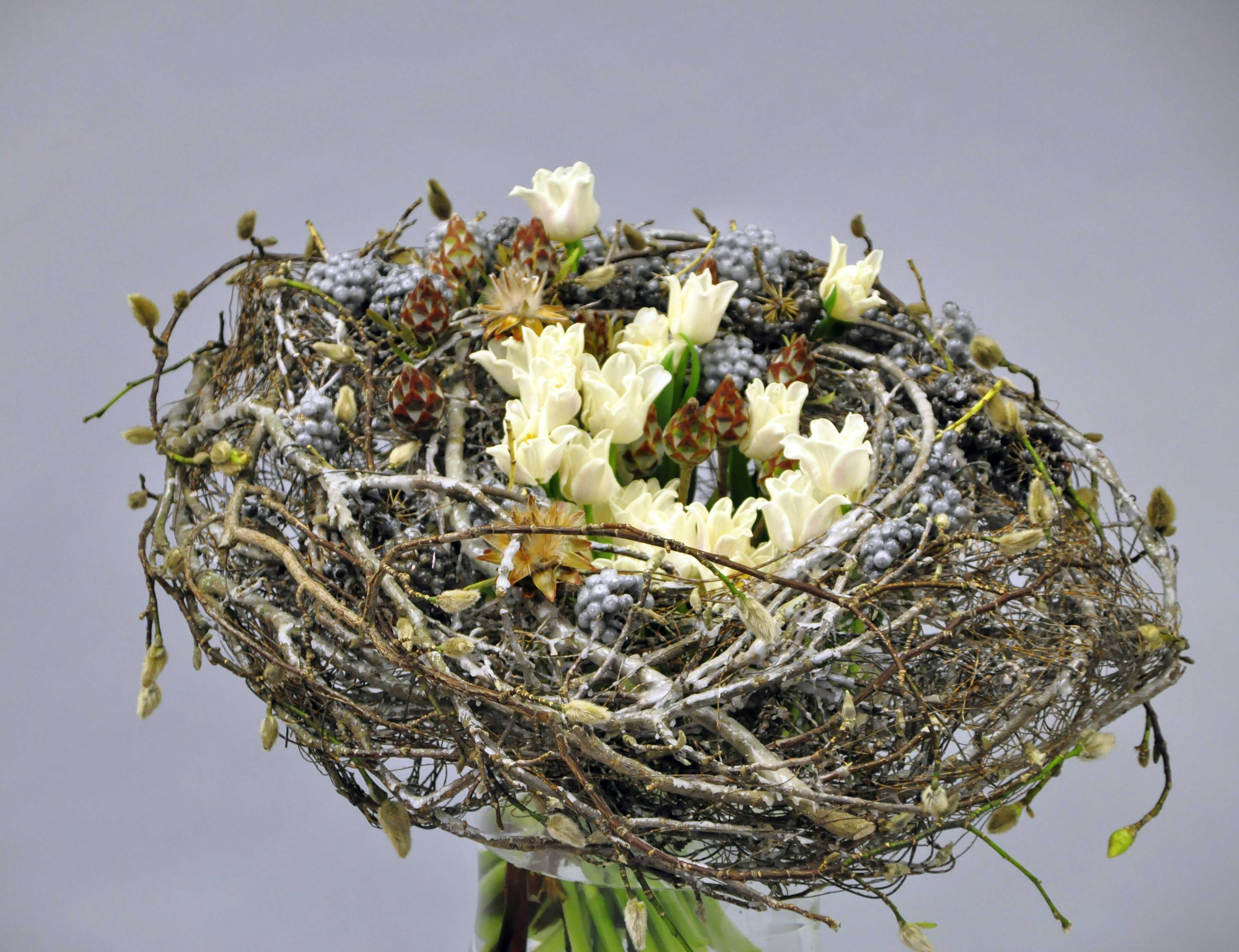 Németh Attila mester virágkötő bemutatója