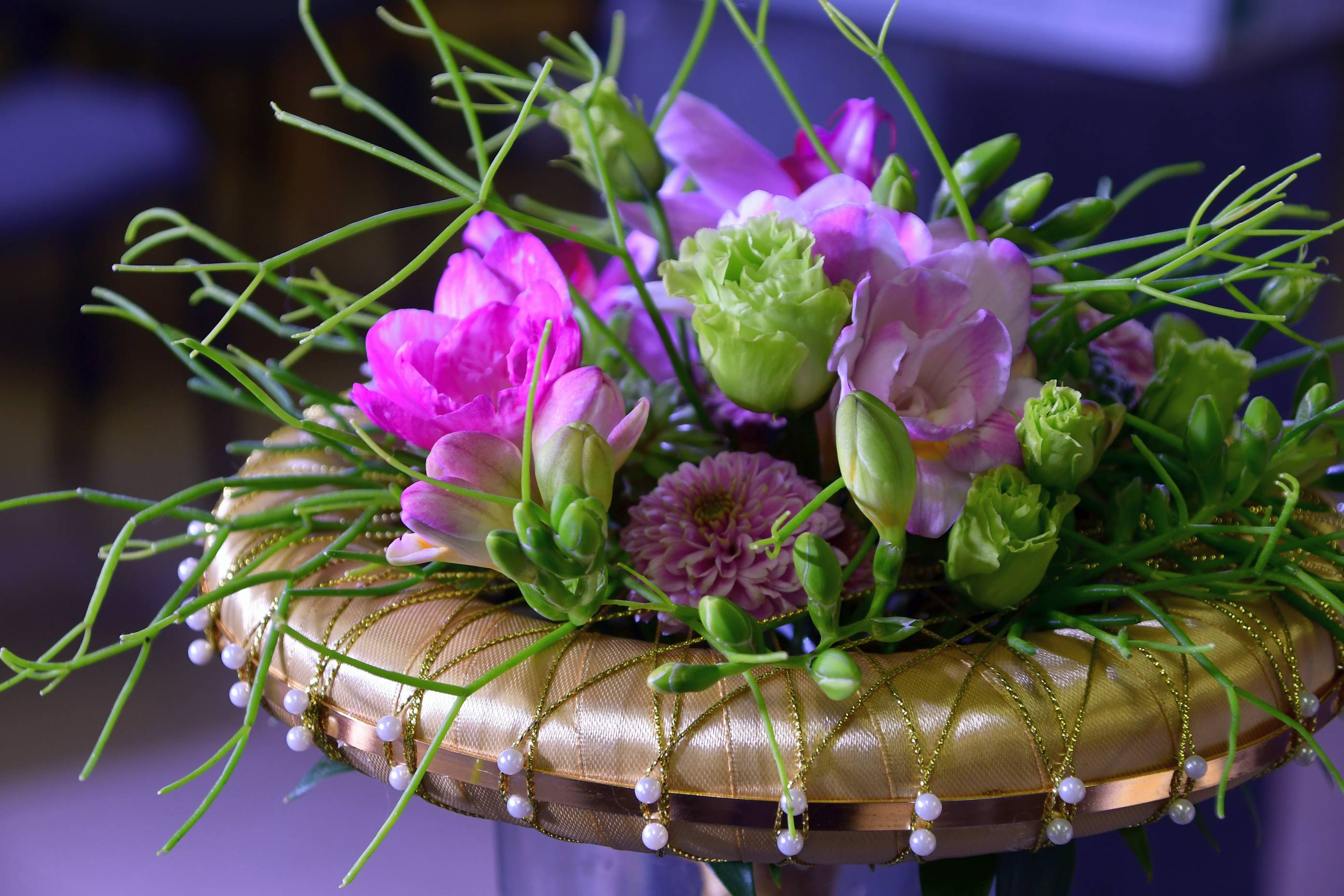 Flora Hungaria virágkötészeti bemutató: Takács Diána és Nagy Péter